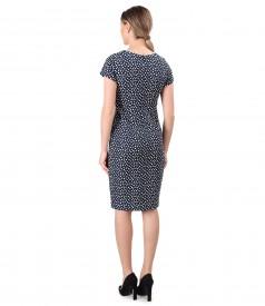 Elegant elastic cotton dress