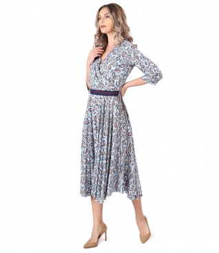 Viscose dress printed with paisley motifs
