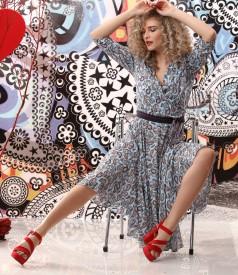 Viscose dress printed with paisley motifs