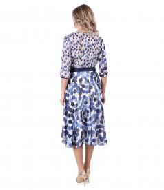 Elegant dots printed veil dress