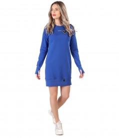Sweatshirt dress made of cotton
