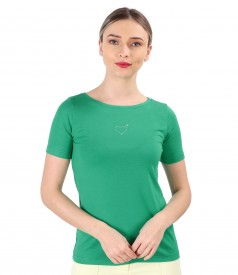 Blouse made of fine elastic jersey
