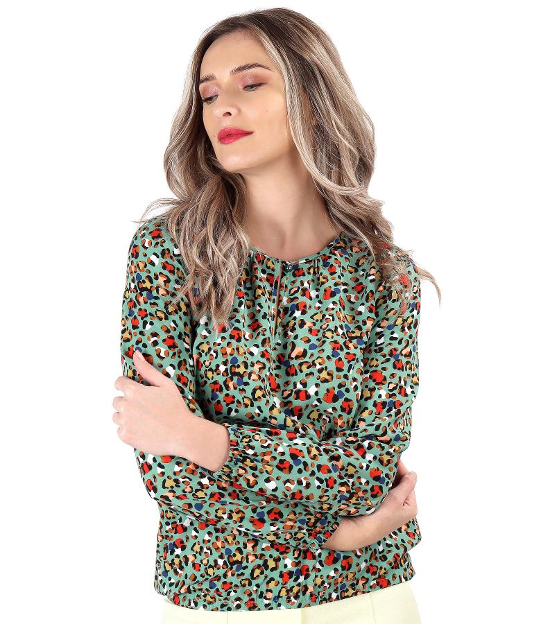 Elegant printed viscose blouse