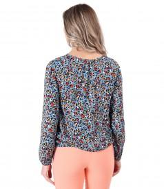 Elegant printed viscose blouse