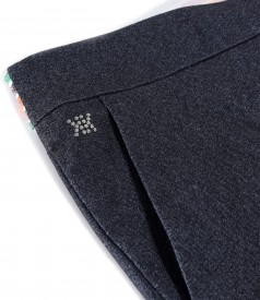 Ankle pants made of elastic denim