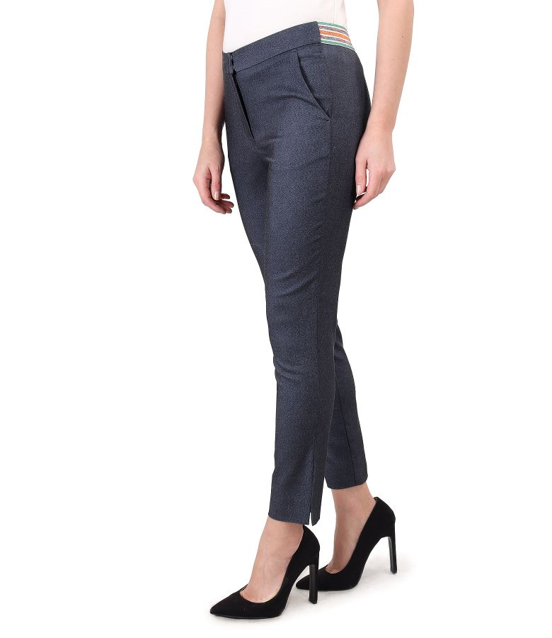 Ankle pants made of elastic denim