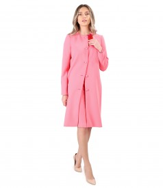 Elegant outfit with long jacket and elastic fabric skirt