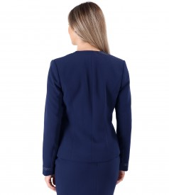 Elastic fabric jacket with rips band at the ends