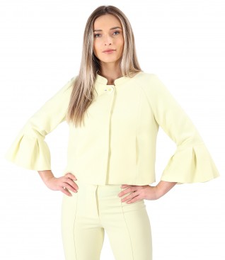 Elegant jacket with peplum cuffs