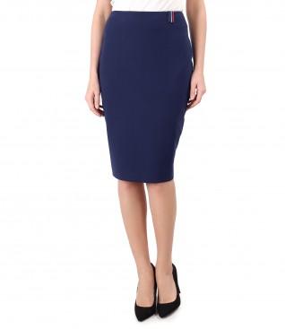 Elegant elastic fabric skirt