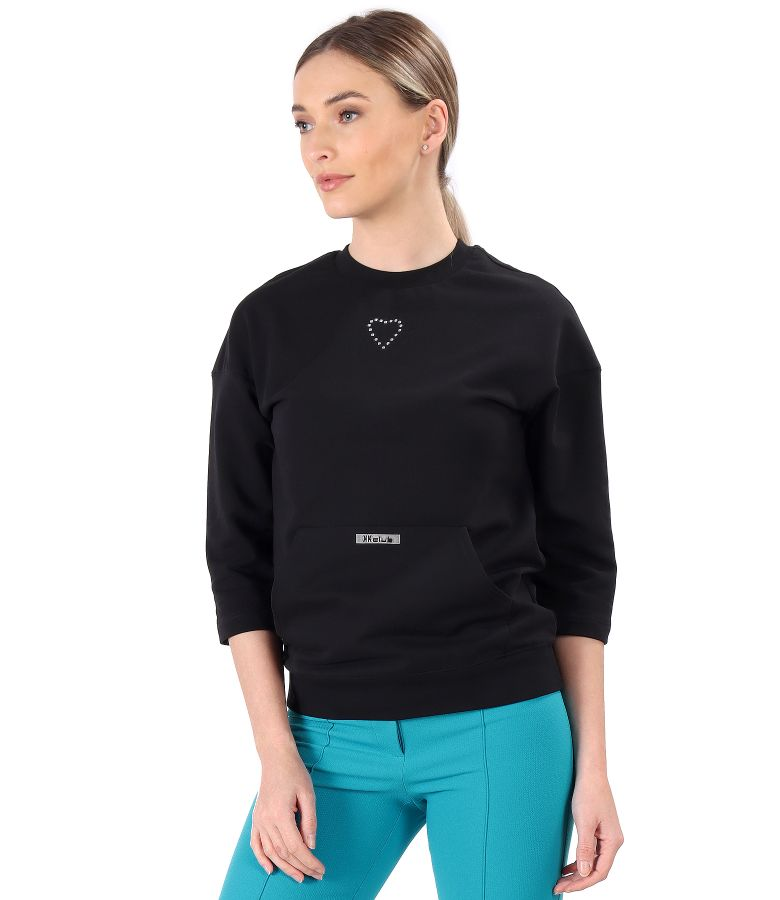 Cotton sweatshirt with front pocket