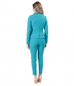 Office woman suit with ankle pants and cord jacket