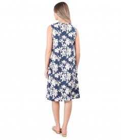 Casual dress made of tencel printed with floral motifs