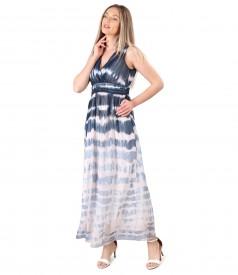 Long gradient veil dress