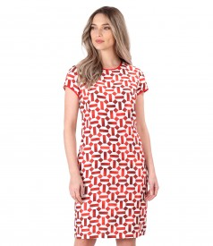 Elegant viscose dress with linen