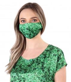 Reusable printed satin mask