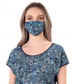 Reusable printed viscose mask
