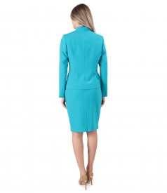 Office women suit with jacket and tapered skirt