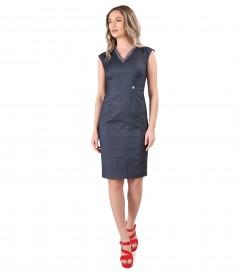 Elastic denim office dress