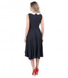 Viscose dress printed with dots