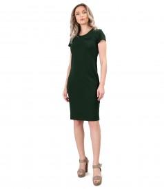 Elastic jersey elegant dress