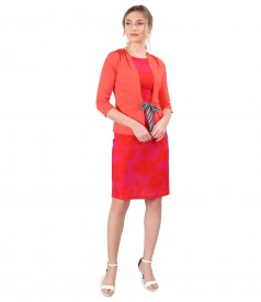 Elastic jersey dress with blouse with cord