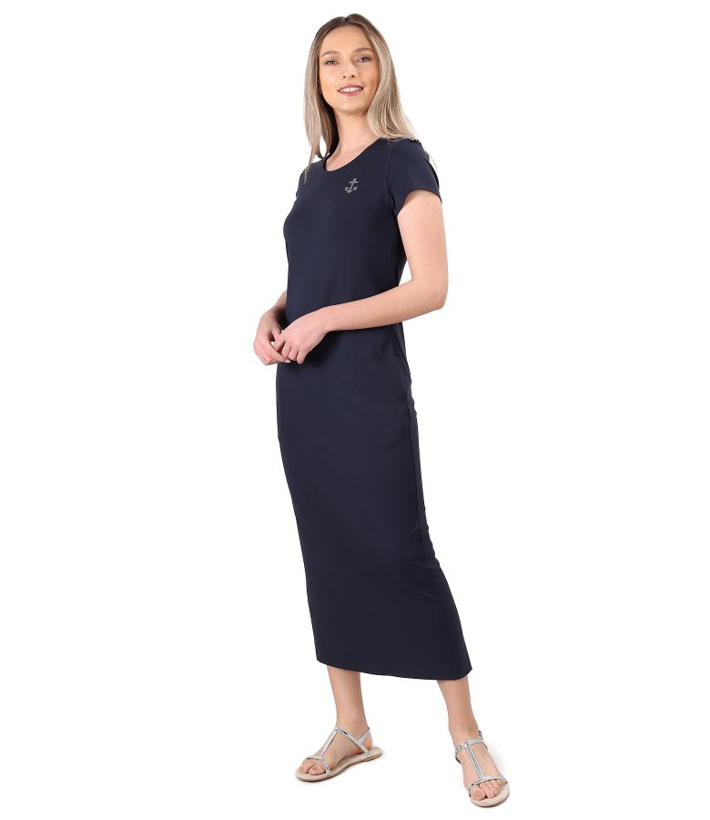 Elastic jersey long dress