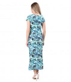 Long elastic cotton dress