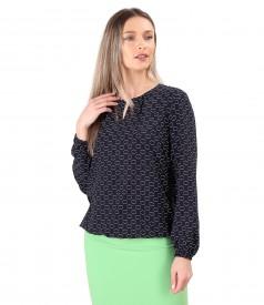 Viscose blouse printed with circles