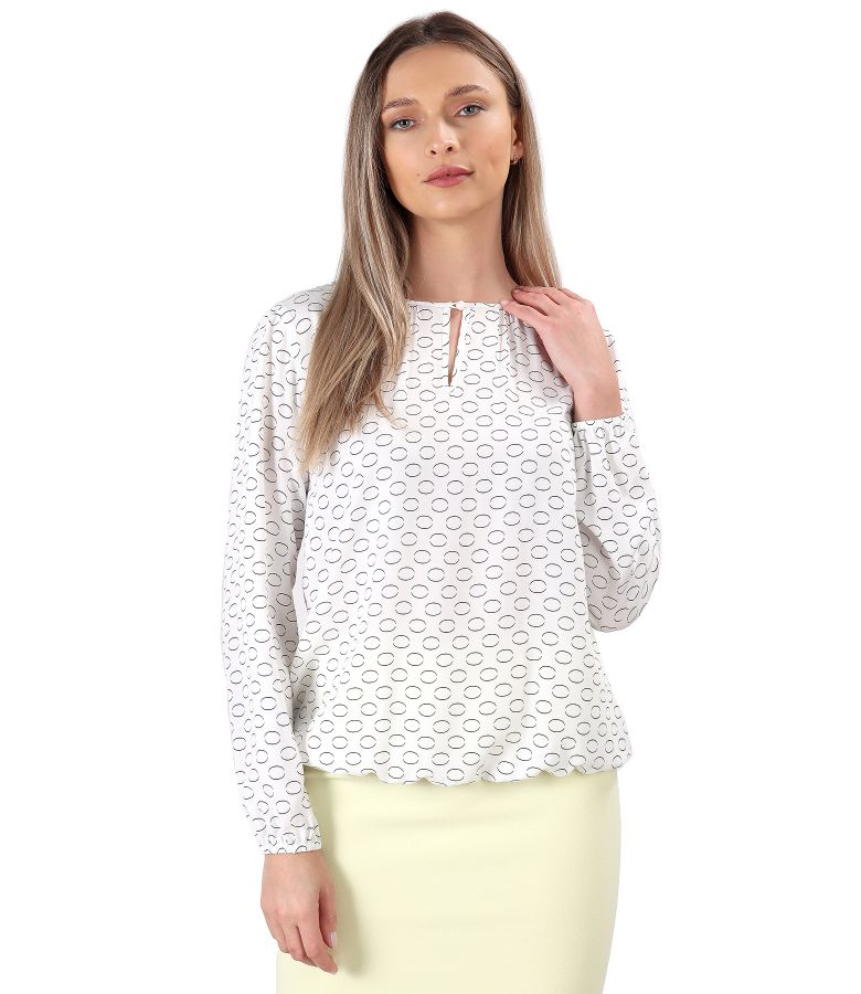Viscose blouse printed with circles