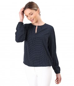 Viscose blouse printed with dots