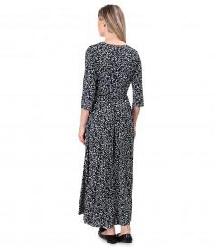 Long dress made of viscose elastic jersey