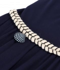 Long dress made of bamboo velvety elastic jersey