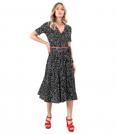 Midi dress made of viscose elastic jersey