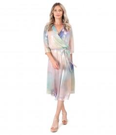 Pearl veil evening dress