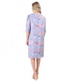 Casual viscose dress printed with paisley motifs