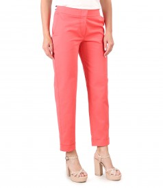 Cotton pants with lycra