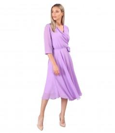 Veil dress with bow at the waist