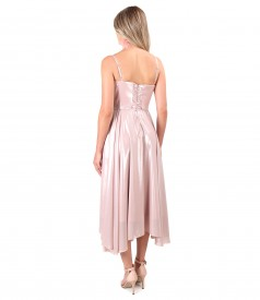 Evening dress with corset and veil skirt