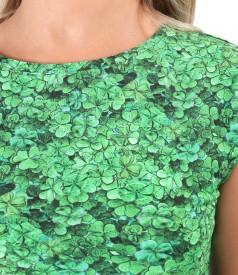 Viscose elastic jersey blouse