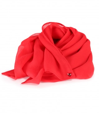 Natural silk veil wrap