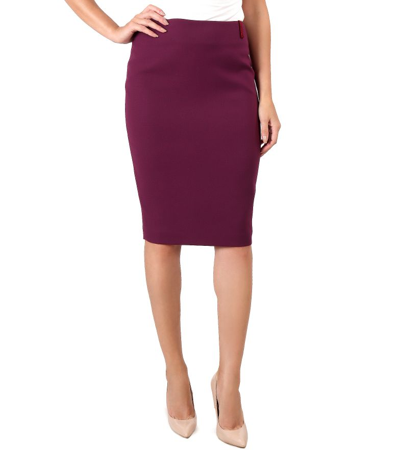 Office skirt made of elastic fabric
