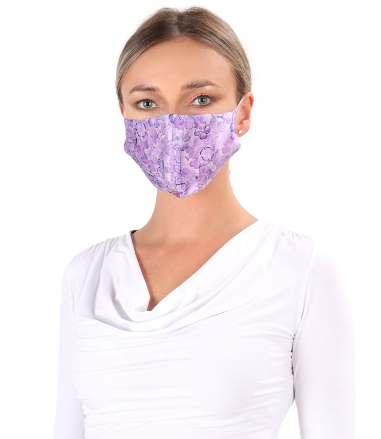 Reusable natural silk mask