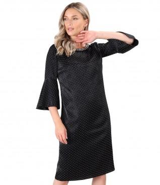 Embossed velvet dress