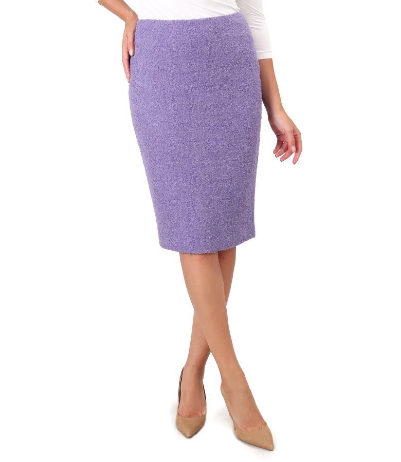 Skirt made of wool and alpaca