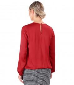 Elegant viscose satin blouse