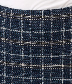 Office skirt made of curls with wool and alpaca