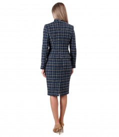 Office women suit with skirt and jacket made of wool and alpaca