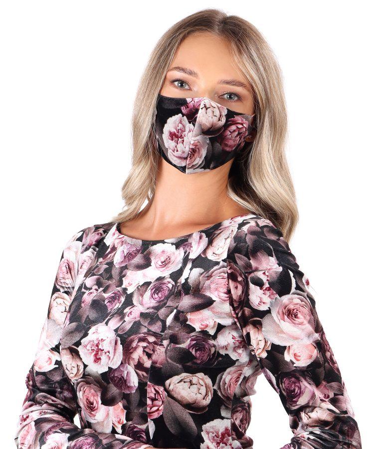 Reusable elastic velvet mask