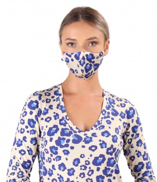 Reusable viscose elastic jersey mask